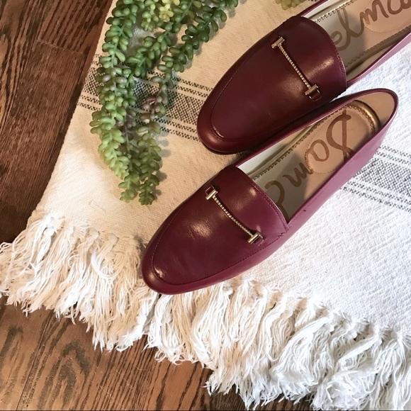 c1534befc10 NWB SAM EDELMAN Lior Leather Loafer Burgundy Red